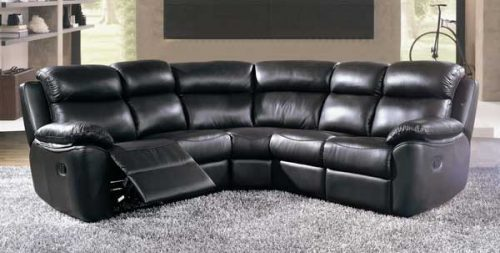 New York: Leather. Corner Group Reclining