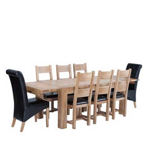 Chunky Oak: Dining Set
