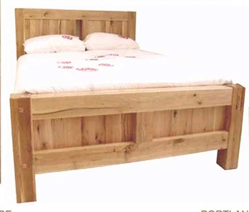 Chunky Oak: 4ft 6ins Double Bedframe
