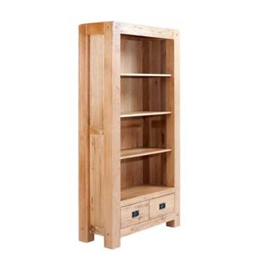 Chunky Oak: Tall Wide Bookcase