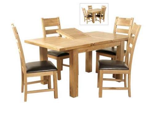 Elm: 4ft Extending Dining Set
