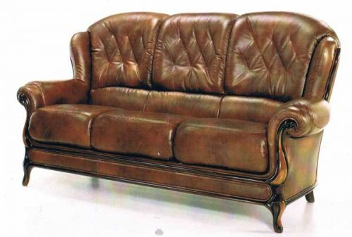 Florence: Leather 3 Seater Sofa