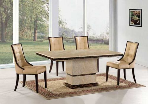Marcello: Marble Effect Rectangular Dining Table