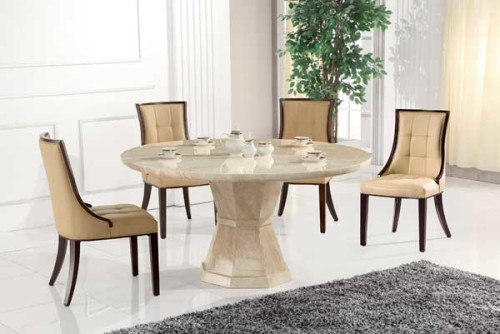 Marcello & Marcello: Marble Effect Round Dining Set