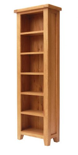 Rustic Oak: Tall Slim Bookshelf