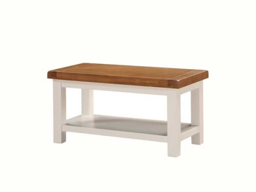 Country: Stone & Oak. Coffee Table with Shelf, Small