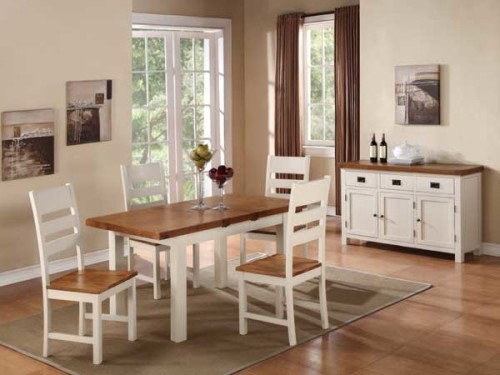 Country: Stone & Oak. 4ft Dining Set