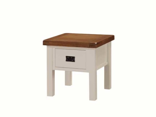 Country: Stone & Oak. Lamp Table With Drawer