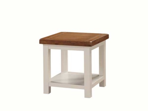Country: Stone & Oak. Lamp Table With Shelf