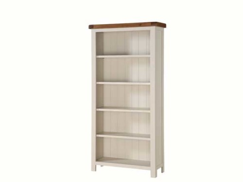 Country: Stone & Oak. Tall Wide Bookshelf
