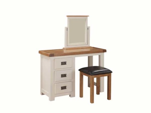 Country: Stone & Oak. Dressing Table with Stool