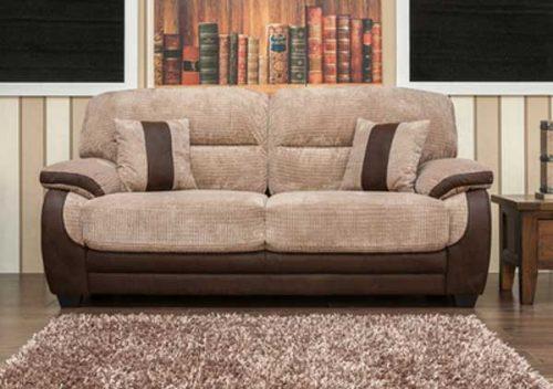 Newton: Fabric 3 Seater Sofa.