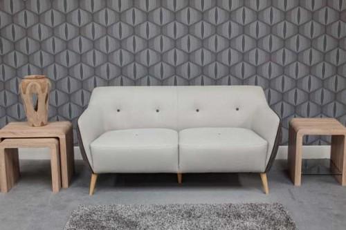 Enzo: Fabric. 3 Seater Sofa