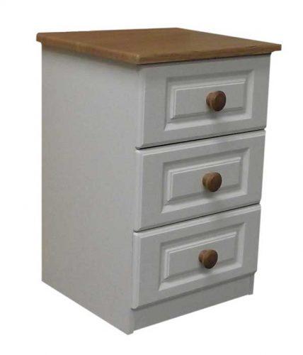 Claddagh: Locker, 3 Drawer. Ivory / Oak