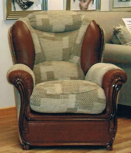 Oscar: Leather & Fabric. Chair