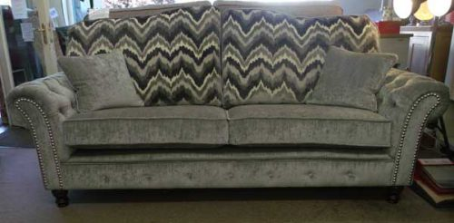 Buckingham: Fabric. 3 seater Sofa