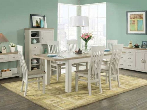 Rich Oak: Painted. 6ft Extending Dining Set