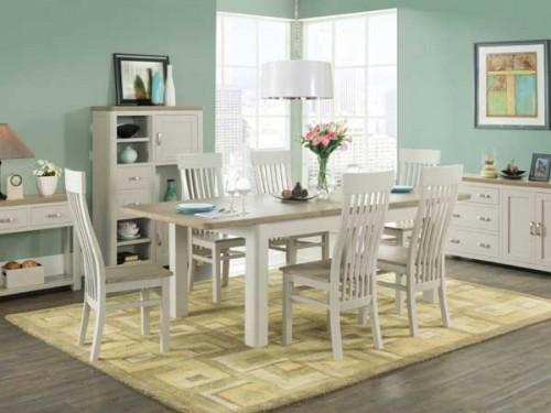 Rich Oak: Painted. 6ft Extending Dining Set