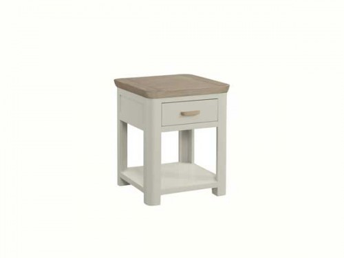 Rich Oak: Painted Lamp Table with Drawer.