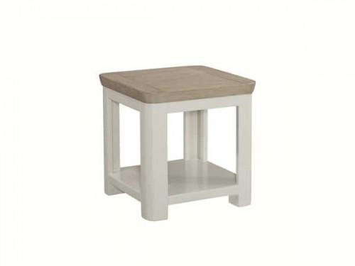 Rich Oak: Painted Lamp Table.