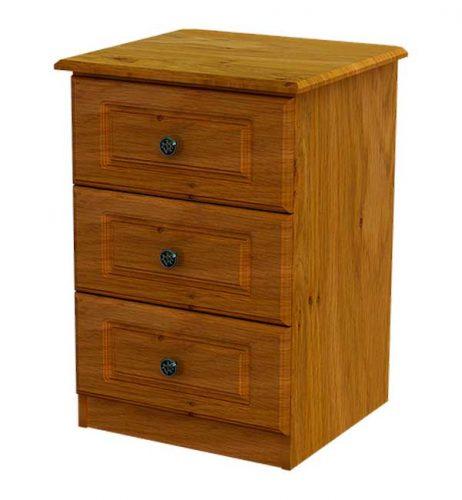 Claddagh: Locker. 3 Drawer, Ivory / Oak