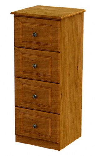 Claddagh: Slim Chest. 4 Deep Drawers, Oak