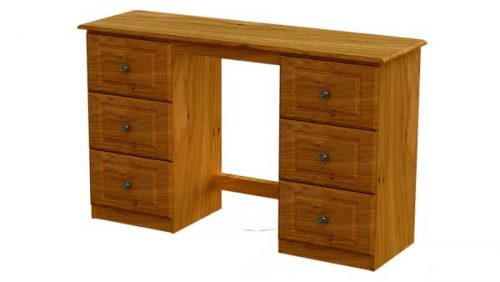 Claddagh: Dressing Table. 6 Drawer, Oak