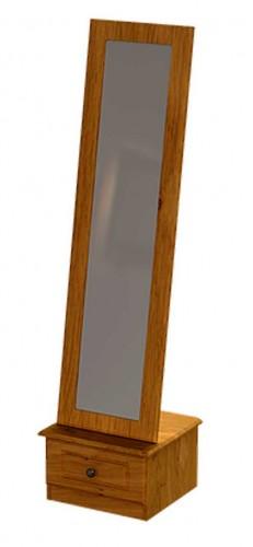 Claddagh: Cheval Mirror. Oak