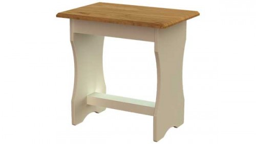 Claddagh: Dressing Stool. Ivory / Oak