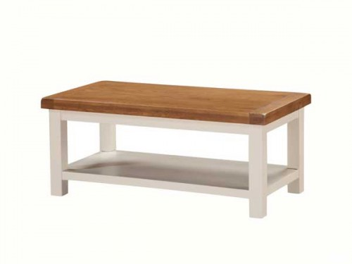 Country: Stone & Oak. Coffee Table with Shelf, Large (Special Offer)
