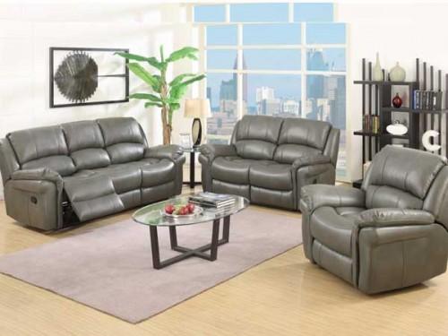 Romario: Leather Air Fabric Suite, Reclining.