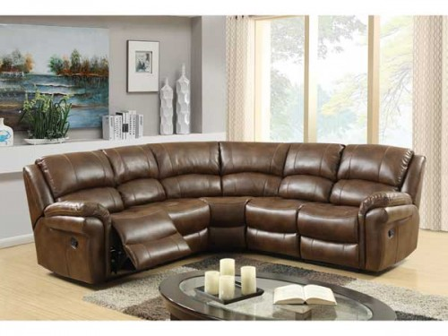 Romario: Leather Air Fabric, Corner Group Reclining.