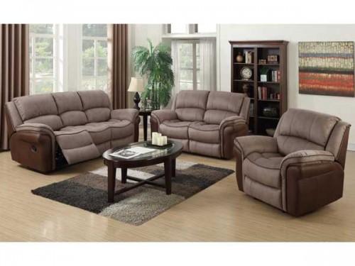 Romario: Leather Air Fabric / Fabric. Suite Reclining