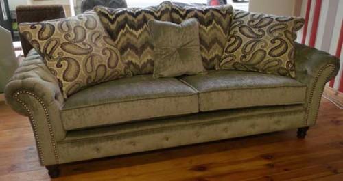 Buckingham: 3 Seater Sofa, Fabric.