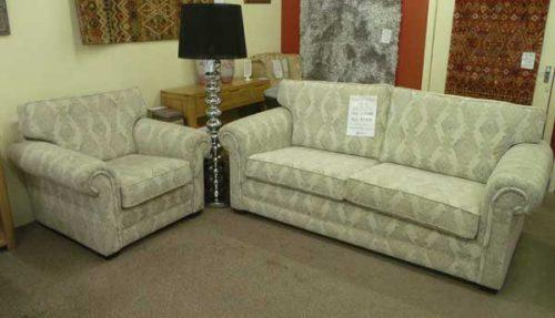 Canterbury: 3 Seater Sofa & Chair, Fabric.