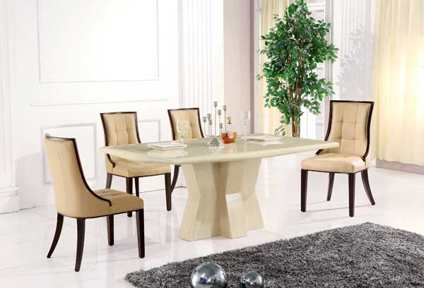 Caprice Marble Rectangular Dining Table Cosi Interiors Ltd