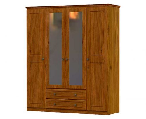 Claddagh: 4 Door 2 Drawer Robe / Oak