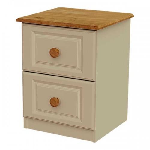 Claddagh: 2 Drawer Locker. Ivory / Oak