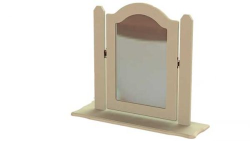 Claddagh: Single Dressing Mirror, (Ornate) Ivory